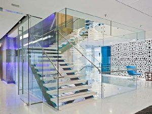 NEI glass staircase