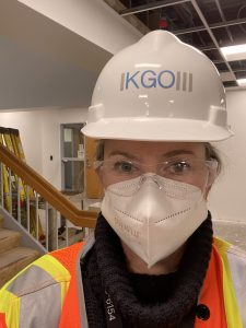 Ellen on the job
